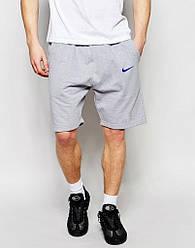 Шорты Nike ( Найк ) мужские серые чёрная галочка
