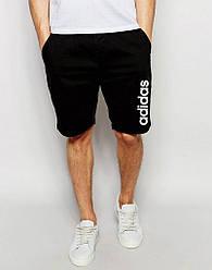 Шорты Adidas ( Адидас ) чёрные вертикальный белый лого