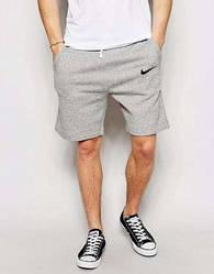 Шорты с логотипом Найк ( Nike ( Найк ) ) серые трикотажные