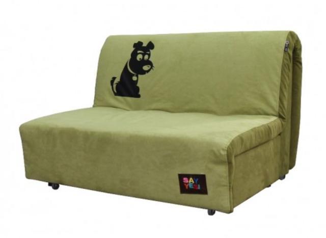 Диван Хеппи 1,3 см., принт 02 ткань Бонд Pistachio 11/Green 10 рисунок L