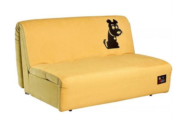 Диван Хеппи 1,3 см., принт 02 ткань Бонд Yellow 08/Pistachio 11 рисунок R