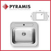 Мойка врезная из нержавеющей стали Pyramis Atria 505x575