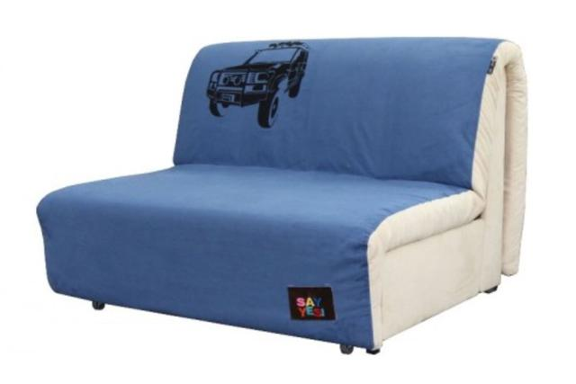 Диван Хеппи 1,3 см., принт 08 ткань Бонд Blue 12/Beige 01 рисунок L
