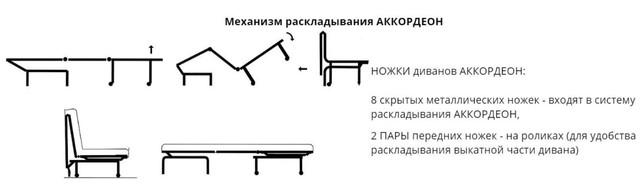 Диван Хеппи 1,3 (Механизм расклада Аккордеон)