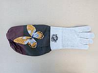 Перчатки пчеловода с нарукавниками, замшевые