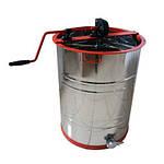 Медогонка 2-х рамочная нержавеющая, поворотная, кассеты из нержавеющей стали (КЗ), фото 3