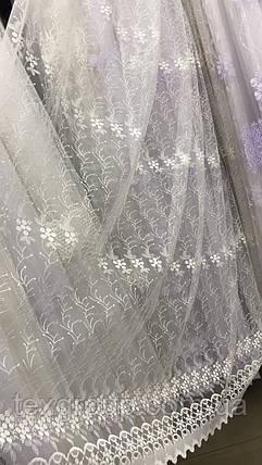 Тюль фатиновая с нежной вышивкой №358, фото 2
