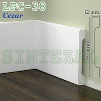 Прямоугольный плинтус Cezar Elegance LPC-38, 95х12 мм.