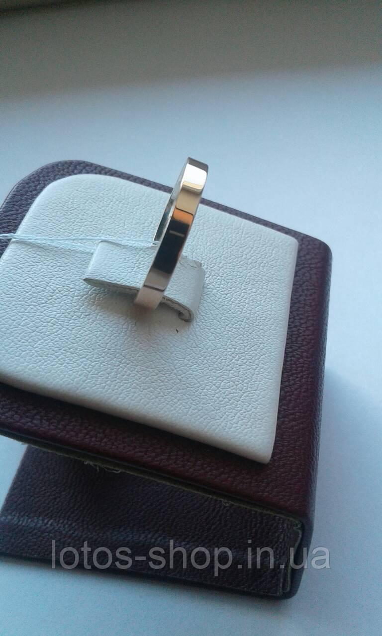 Обручальное кольцо серебро с Золотом