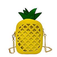 "Сумочка ""Pineapple"" 3 Цвета Желтый (Размер 19*14*6)"