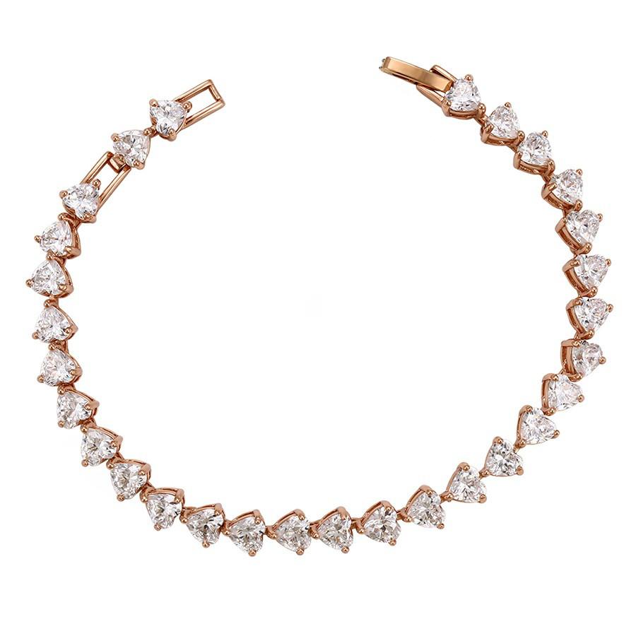 Позолоченный браслет Sofique с фианитами белого цвета 72346w