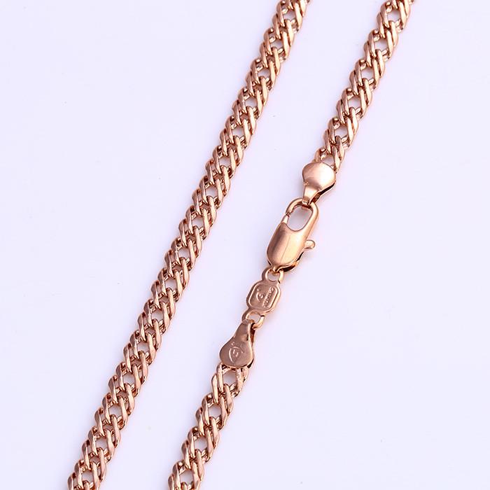Позолоченная цепочка Sofique с плетением двойной ромб 42351