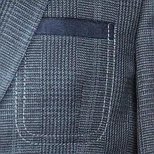 """Шкільний підлітковий піджак для хлопчика 158-176 зростання """"Філадельфія"""" сірий в клітку з налокотниками, фото 3"""