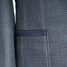 """Шкільний підлітковий піджак для хлопчика 158-176 зростання """"Філадельфія"""" сірий в клітку з налокотниками, фото 2"""