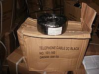 Кабель телефонный 2ж черн.   VECTOR 100м