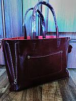 Сумка натуральная кожа   Кожаные женские сумки  бордо , марсаль