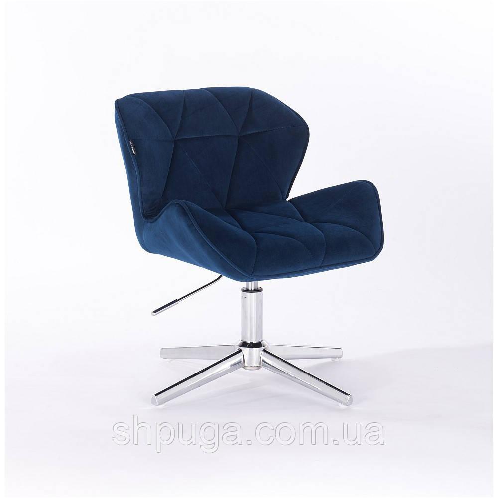 Кресло  111 синий велюр