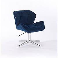 Кресло  HR 111 синий велюр , стопки, фото 1