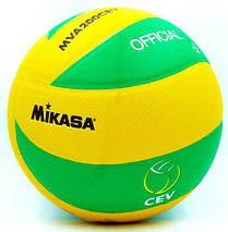 М'яч волейбольний Клеєний PU MIK VB-5940 MVA-200CEV розмір 5, 3 шари