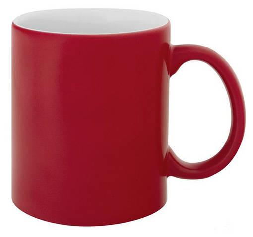 Кружка со сменой цвета красная матовая