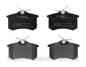 Комплект задних тормозных колодок Рено Меган 3, Рено Флюенс/ BOSCH 0986494387