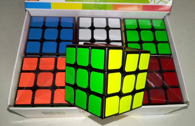 "Кубик Рубика 3*3*3 ""Неон"" черный , фото 2"