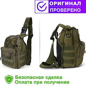 Тактическая - штурмовая универсальная сумка на 6-7 литров с системой M.O.L.L.E Olive (095-olive)