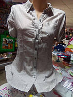 Блуза - рубашка Хлопок р.42 - 50