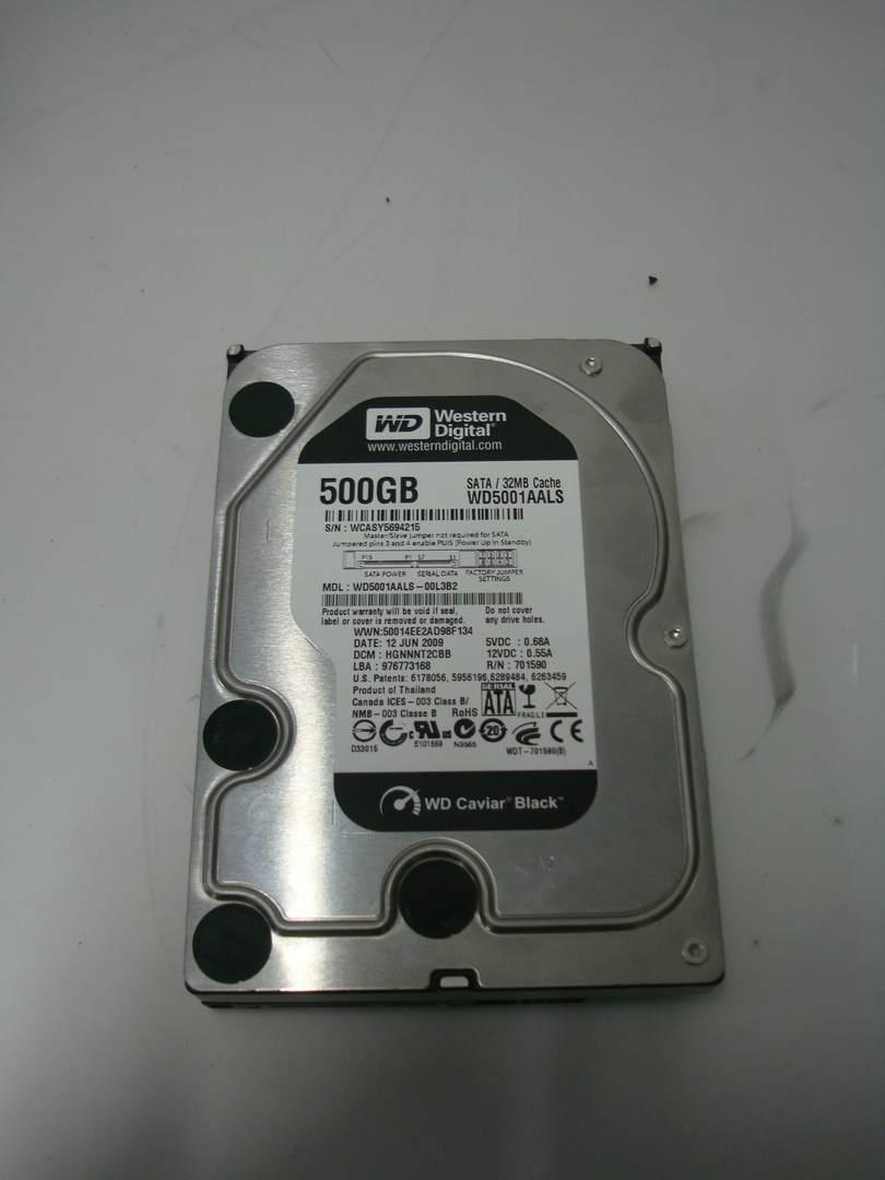 Жесткий диск Western Digital Caviar Black 500GB 7200rpm 32MB  3.5 SATA II