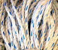 """Веревка крученая, диаметр 8мм/50м. Полипропиленовая """"Геркулес"""" (Украина)."""