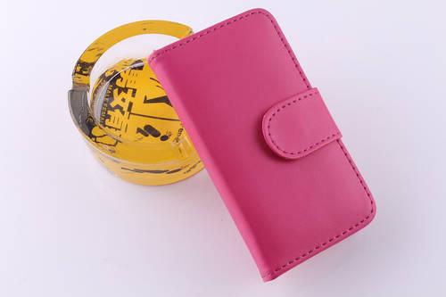 Чехол книжка на iPhone 5/5s/SE экокожа с накладкой и с застежкой пластик,розовый