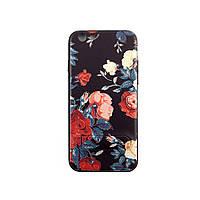 Чехол накладка на iPhone 6/6s с подставкой, Розы, плотный силикон