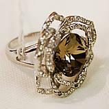 Кольцо камень цирконий,камешки Swarovski, фото 2