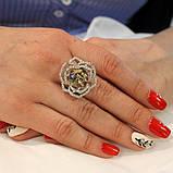 Кольцо камень цирконий,камешки Swarovski, фото 3