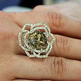 Кольцо камень цирконий,камешки Swarovski, фото 4