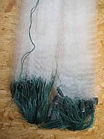 Сеть рыболовная (одностенка, вшитый груз, белая)  100х1.8 м ячейка 60 для промышленного лова, фото 1