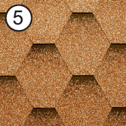 Битумная черепица Roofshield / Руфшилд Стандарт №5 (Песочный)