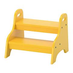 Детский табурет IKEA TROGEN 40x38x33 см желтый 803.715.20