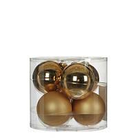 """Елочные шарики """"House of Seasons"""" комплект 6 шт, цвет шампань, фото 1"""