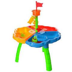 Столик-песочница 726-27 с игрушками, картонная коробка (размеры 42х17 см) Royaltoys