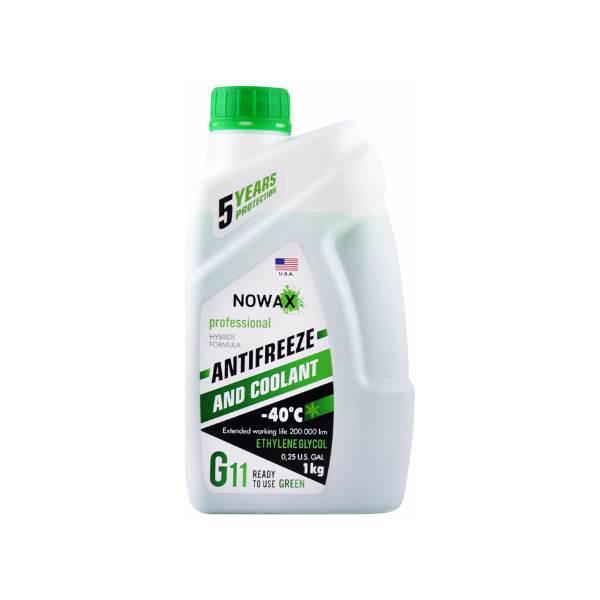 Антифриз NOWAX G11 Зеленый -40°C (1л)