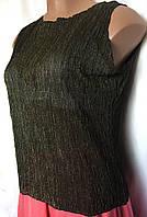 Блуза женская Marks&Spencer, большой размер, из легкого трикотажа с металлическим отливом, размер 50/54, фото 1