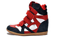 Isabel Marant Sneakers Blue White Red Winter (С МЕХОМ)