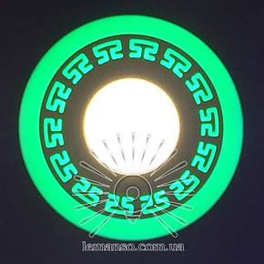 Led светильник круг со светодиодной подсветкой Грек 3+3W Lemanso, фото 2