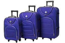 Набор чемоданов на колесах Bonro Lux Фиолетовый 3 штуки