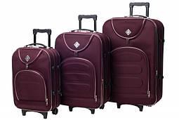 Набор чемоданов на колесах Bonro Lux Бордовый 3 штуки