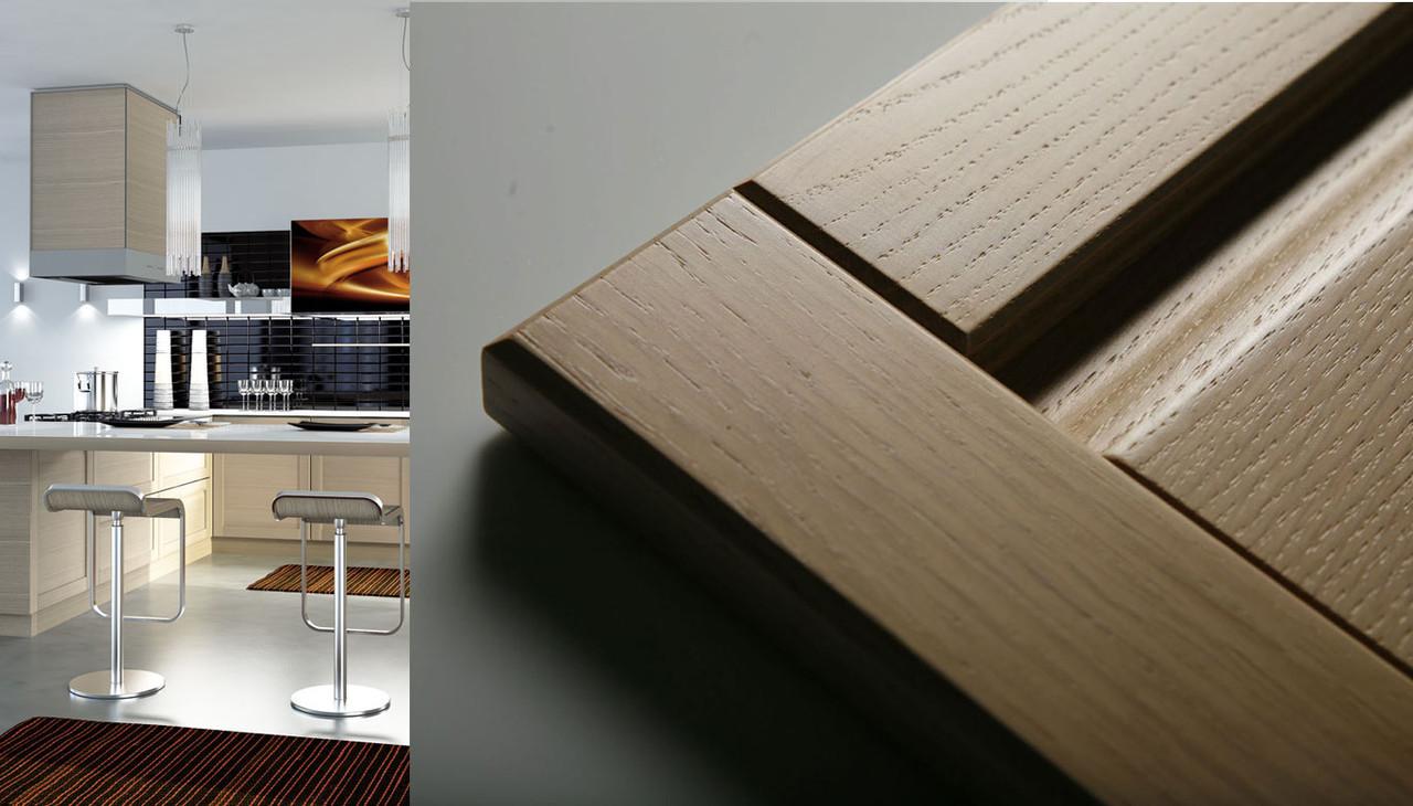 Кухонные фасады из массива натурального дерева ольхи