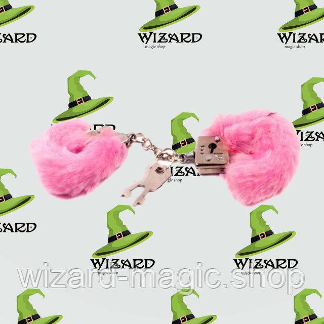 Наручники на пальцы меховые розовые