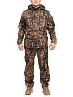 """Демисезонный камуфляжный костюм для охоты и рыбалки Бондинг """"Лесная чаща"""""""