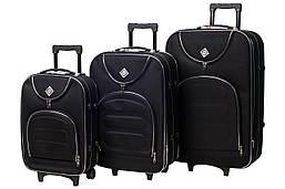 Набор чемоданов на колесах Bonro Lux Черный 3 штуки